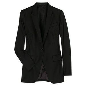 Theory Womens Black Blazer Size 8 Professional